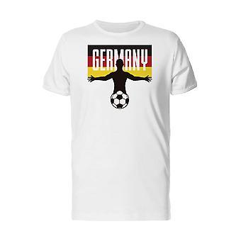 Football Soccer Player Germany Men's Tennessee Orange T-shirt