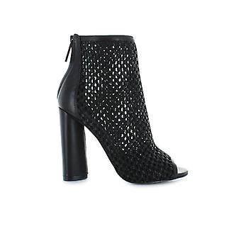 KENDALL AND KYLIE GALLA BLACK OPEN TOE BOOTIE