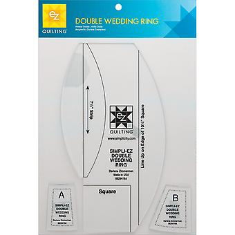 Double Wedding Ring Template-3/Pkg