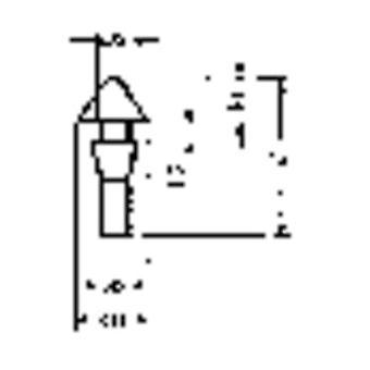 PB sujetador 1345-01 complemento pie negro (Ø x H) 15 mm x 9,6 mm