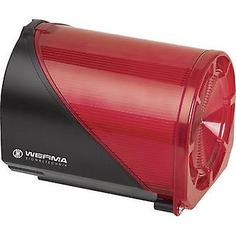 Combo sounder Werma Signaltechnik 444.100.68 Red 230 V AC 110 dB