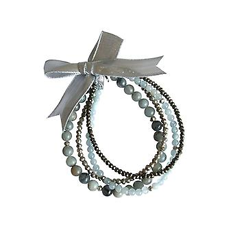 Gemshine - Damen - Armband Set - Aquamarine Sea Breeze - Aquamarin - Blau - 925 Silber
