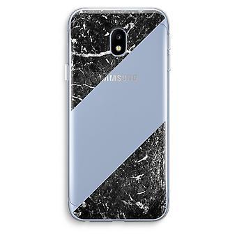 Samsung Galaxy J3 (2017) Transparent Case (Soft) - Black marble