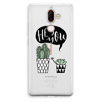 Nokia 7 Plus Transparent Case - Hey you cactus