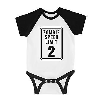 Zombie Speed Limit Infant Baseball Shirt