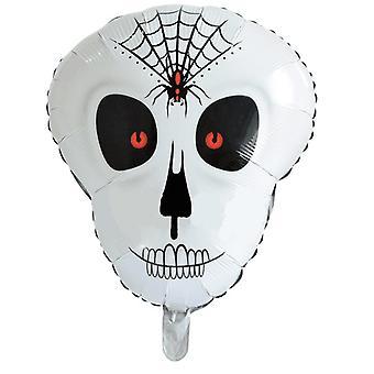 TRIXES Schädel Folie Ballon - gruselige Party Dekoration für Halloween und Themenveranstaltungen