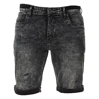 Mens Denim Jeans Summer Shorts Black | Enzo Designer Menswear