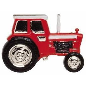 Zennor Tractor Tie Tac - Red