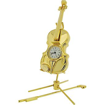 Gift Time Products Violin Miniature Clock - Gold