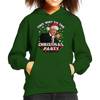Sylvester Stallone This Way To The Christmas Party Kid's Hooded Sweatshirt