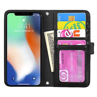 The TOP Left-handed wallet pouch iPhone X/Xs Black