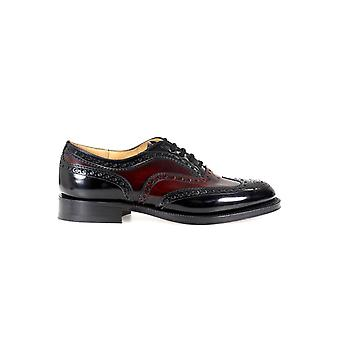 CHURCH'S BURWOOD BLACK BURGUNDY LACE UP