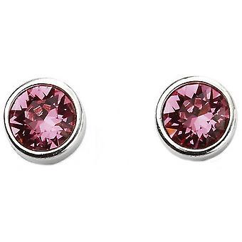 Début octobre Swarovski Birthstone boucles d'oreilles - argent/rose