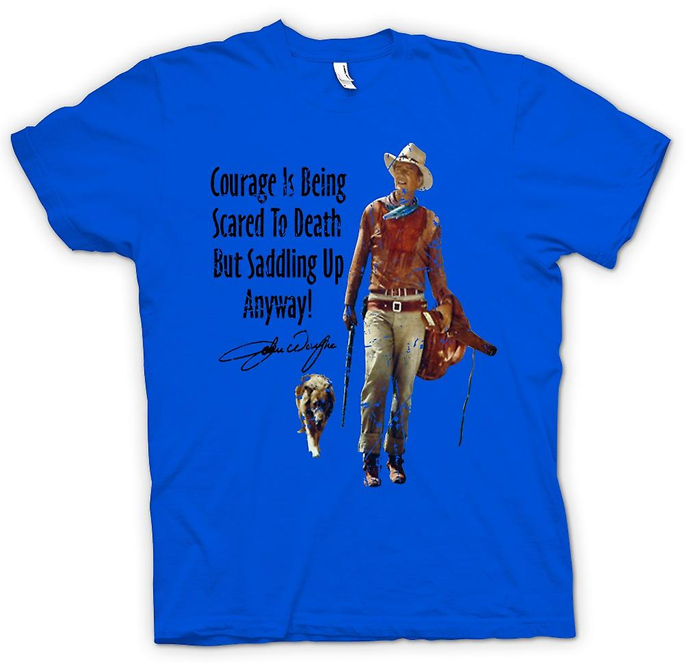 Mens T-shirt - John Wayne Courage - Western Cowboy