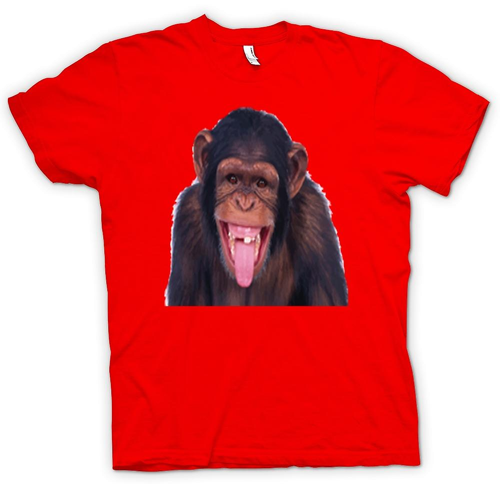 Herr T-shirt-Cheeky Chimp grimas