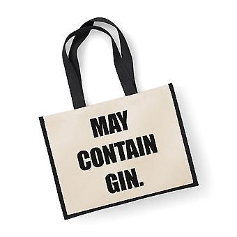 Large Jute Bag May Contain Gin Black Bag