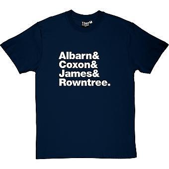 Unschärfe Line-Up Herren T-Shirt