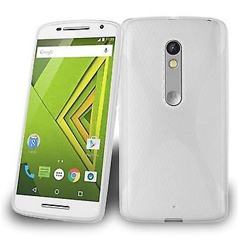 Cadorabo tapa uksessa Motorola MOTO X pelata kotelon kansi-matka Puhelin kotelo on valmistettu joustavasta TPU silikoni-silikoni kotelo suoja kotelo erittäin ohut pehmeä takakannen kotelo puskuri