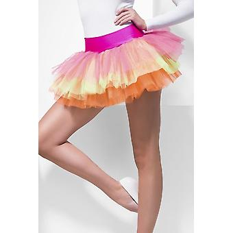 Womens Multi Coloured Tutu Underskirt  Fancy Dress Accessory
