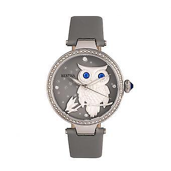 Bertha Rosie läder-Band Watch - Silver/grå