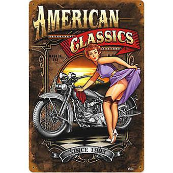 American Classics rusted metal sign (pst1812)