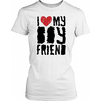 Jag älskar min flickvän - roliga damer T Shirt