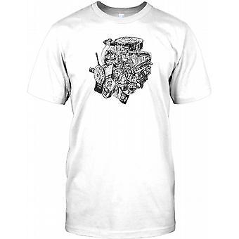 V8 Motor--Motor - Auto-Objekt-Collage-Herren-T-Shirt