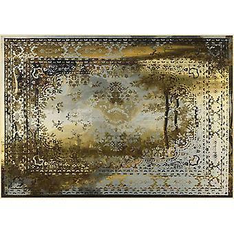 Rugs -Mineheart - Kashan Remix Landscape Rug in Gold