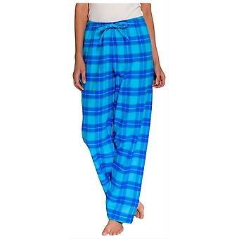 British Boxers Tartan Two Fold Flannel Pyjama Trousers - Aqua Blue