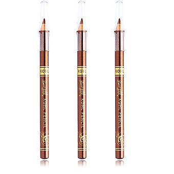Barry M 3 X Barry M Kohl Pencil - Bronze