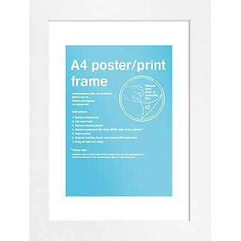 Eton wit Frame A4 Poster / Frame afdrukken
