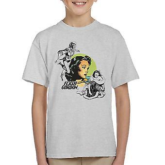 Flash Gordon Dale Montage Kid's T-Shirt
