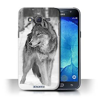 STUFF4 Phone Case / Cover for Samsung Galaxy J5/J500 / Wolf Design / Mono Zoo Animals Collection