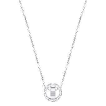 Swarovski Pendant Hollow - small - white - rhodio plating