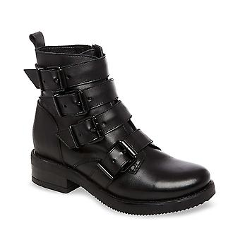 Steve Madden Womens Reflex Leather Round Toe Ankle Fashion Boots