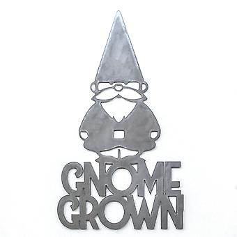 Gnome grown - metal cut sign 24x14in