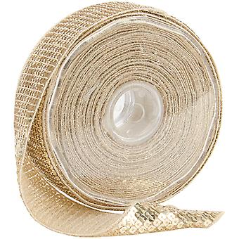 Square Sequin Trim 40Mm X 15.95 Yards Cream 9801 40 51