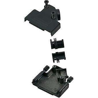 D-SUB housing Number of pins: 9 Metal 45 ° Black MH Connectors MHD45ZK-9-BK-K 1 pc(s)