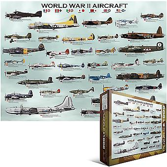 World War II Aircraft 1000 piece jigsaw puzzle  680mm x 490mm (pz)