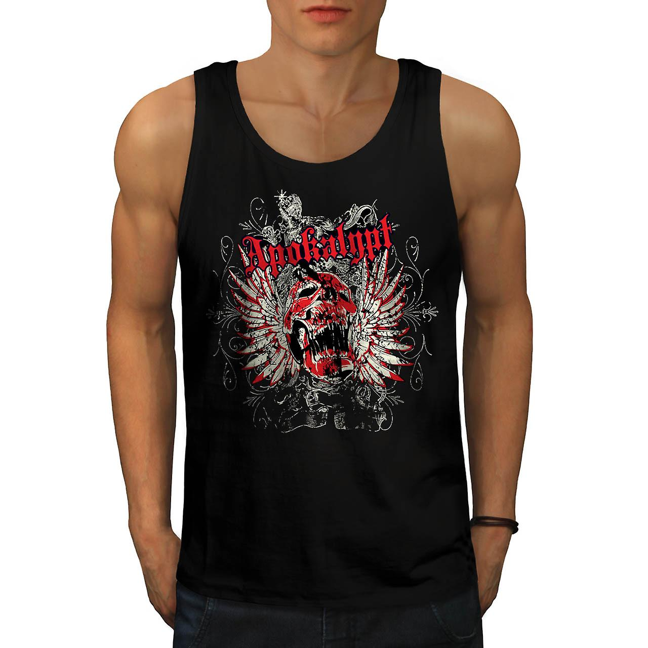 Apocalypse Dead Curse Skull Head Men Black Tank Top | Wellcoda