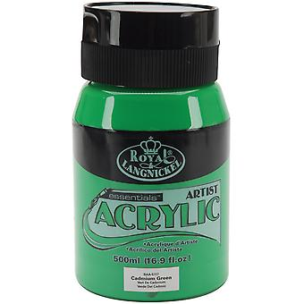 Essentials Acrylic Paint 16oz/Jar-Cadmium Green RAA500-5117