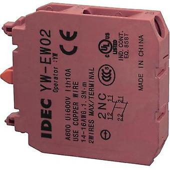 Contact 2 breakers momentary 240 Vac Idec IDEC YW Serie 1 pc(s)