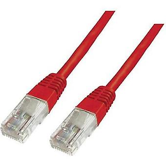 RJ49 Networks Cable CAT 6 U/UTP 3 m Red incl. detent Digitus Professional