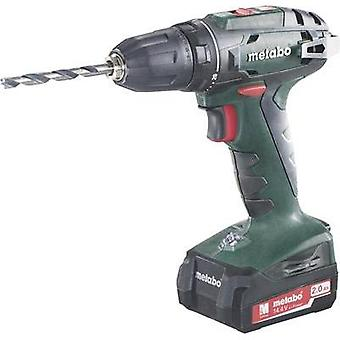 Metabo BS 14.4 Cordless drill 14.4 V 2 Ah Li-ion incl. rechargeables, incl. case