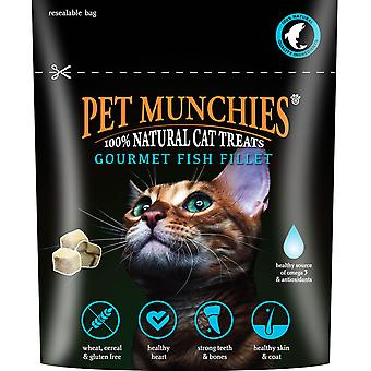 Pet Munchies 100% Gourmet fisk fileten naturlige Cat Treats 10g (Pack af 8)