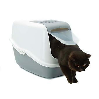 Servizi igienici di Nestor gatto bianco e freddo grigio (confezione da 4)