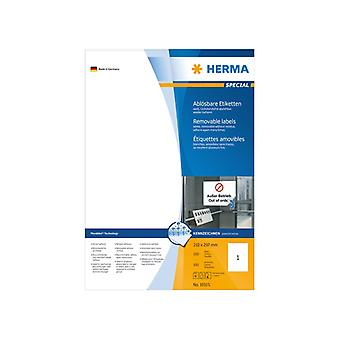 Labels white HERMA Movables 210 x 297 A4 100 pcs.