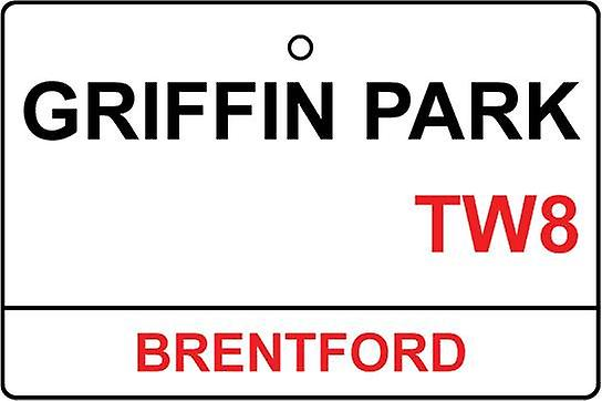 Brentford / Griffin Park Street Sign Car Air Freshener