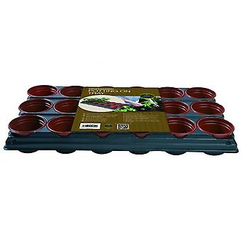 Potting On Tray (18 x 9cm Pots) Professional Planting Gardening