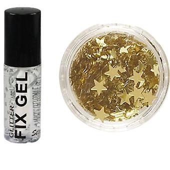 Stargazer Fix Gel Glue + Gold Glitter Stars